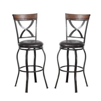 Bobkona Daisy 29 Swivel Bar Stool