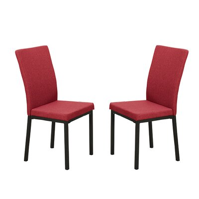 Bobkona Kasen Parsons Chair Upholstery: Red