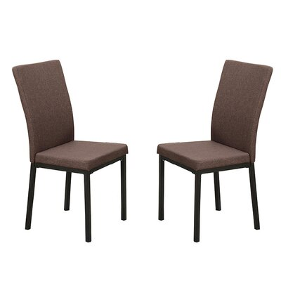 Bobkona Kasen Parsons Chair Upholstery: Brown