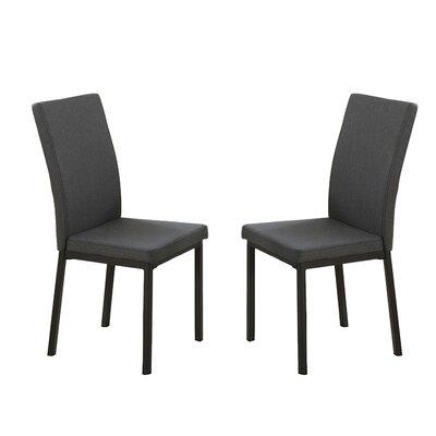 Bobkona Kasen Parsons Chair Upholstery: Gray