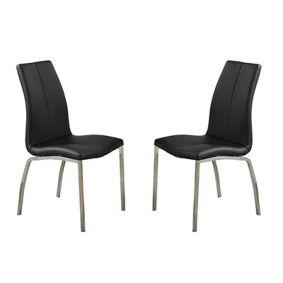 Bobkona Koren Parsons Chair Upholstery: Black