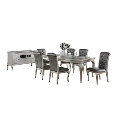 Bobkona Florence 8 Piece Dining Set