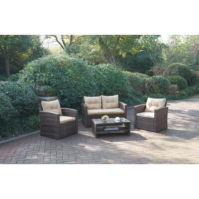 Lizkona Desmond 4 Piece Seating Group with Cushion