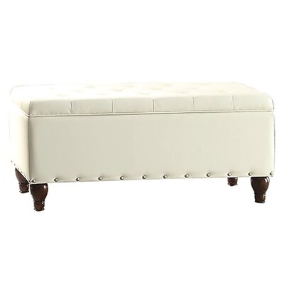 Bobkona Neon Ottoman Upholstery: White