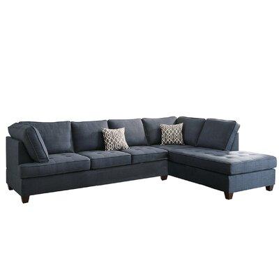 Bobkona Kemen Sectional Upholstery: Blue