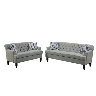 Bobkona Fostord 2 Piece Living Room Set Upholstery: Taupe