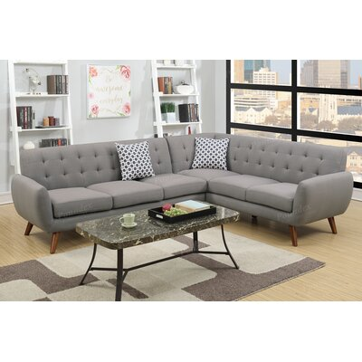 Bobkona Galiana Sectional Upholstery: Gray