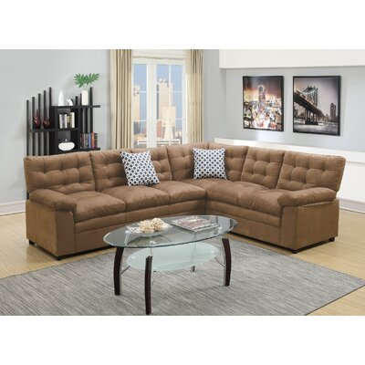 Bobkona Eylan Sectional Upholstery: Saddle