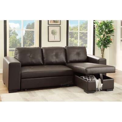 Bobkona Nathan Sleeper Sectional