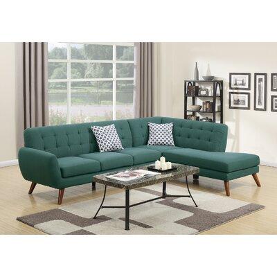 Bobkona Belinda Chaise Sectional Upholstery: Laguna