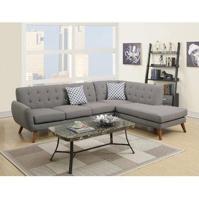 Bobkona Belinda Sectional Upholstery: Gray