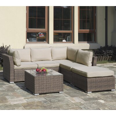 Lizkona Patricia 4 Piece Seating Group with Cushion
