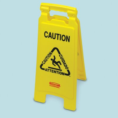 "Buy floor aids products - ""Rubbermaid Commercial Products Floor Safety Sign with Multi-Lingual \""\""Caution\""\"" Logo\"""
