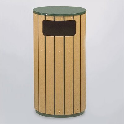 RUBBERMAID COMMERCIAL PRODUCTS 12-Gal Regent 50 Series Flat Top Waste Receptacle (Set of 2)