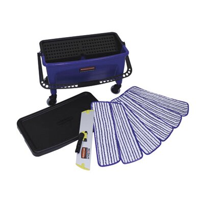 RUBBERMAID COMMERCIAL PRODUCTS Microfiber Floor Finishing System in Blue / Black / White at Sears.com