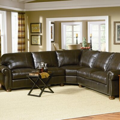 Charles Schneider Furniture Lincoln Leather Sectional | Wayfair
