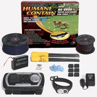 Extra Value Combo Systems Humane Contain Dog Electric Fence HC-8001