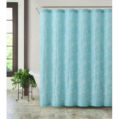 Eric Shower Curtain Color: Aqua