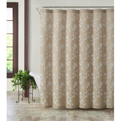 Eric Shower Curtain Color: Taupe