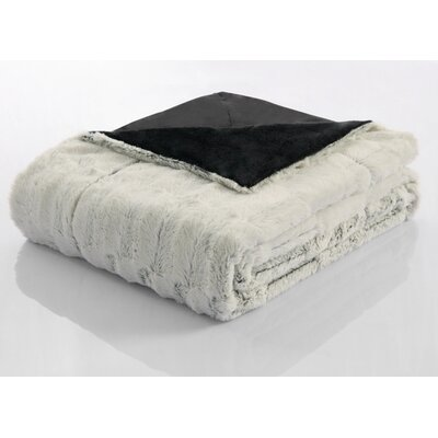 Helen Faux Fur Reversible Throw