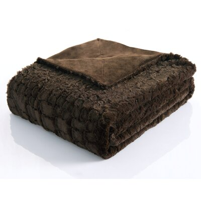 Ashley Alligator Reversible Faux Fur Throw