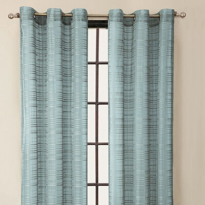 Victoria Classics Clinton Stripe Grommet Curtain Single Panel - Color: Blue at Sears.com