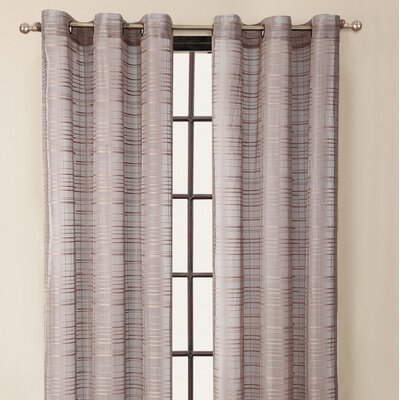 Victoria Classics Clinton Stripe Grommet Curtain Single Panel - Color: Taupe at Sears.com