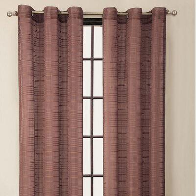 Victoria Classics Clinton Stripe Grommet Curtain Single Panel - Color: Brick at Sears.com
