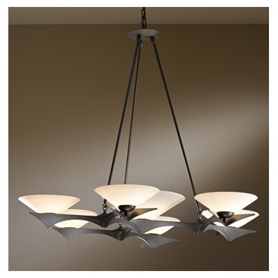 Moreau 7-Light Candle-Style Chandelier Finish: Dark Smoke, Shade Color: Opal