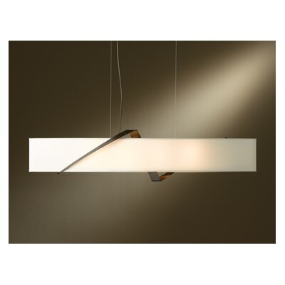 Stream Pendant Shade Color: Natural Anna, Finish: Burnished Steel
