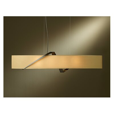 Stream Pendant Shade Color: Doeskin Suede, Finish: Bronze