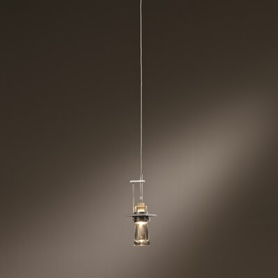 Erlenmeyer Mini Pendant Size: 10.1 H x 3.3 W, Install Type: Standard Canopy, Shade Color: Blue Bubble