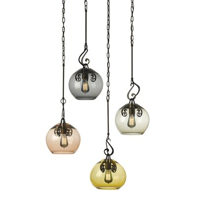 Lure 1 Light Mini Pendant Finish: Burnished Steel, Shade Color: Clear
