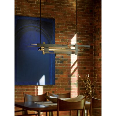 Planar Linear Pendant Finish: Natural Iron, Size: 62.4 H x 8.5 W
