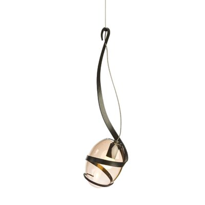 Pinot 1 Light Mini Pendant Shade Color: Rose, Finish: Dark Smoke