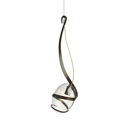 Pinot 1 Light Mini Pendant Shade Color: Clear, Finish: Dark Smoke