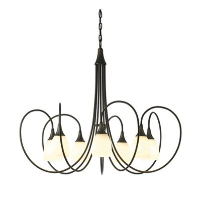Picoh 7-Light Candle-Style Chandelier Finish: Dark Smoke, Shade Color: Opal