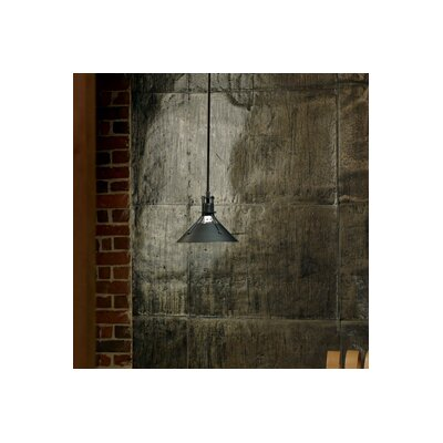 Henry 1 Light Mini Pendant Finish: Dark Smoke, Size: 43.2 H x 9.2 W