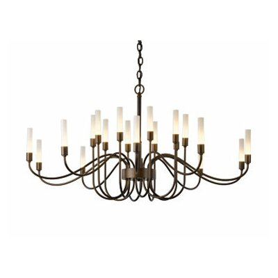 Lisse 18-Light Candle-Style Chandelier Finish: Burnished Steel