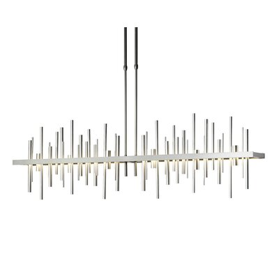 Cityscape Linear Pendant Finish: Burnished Steel, Size: 63.1 H x 5.2 W