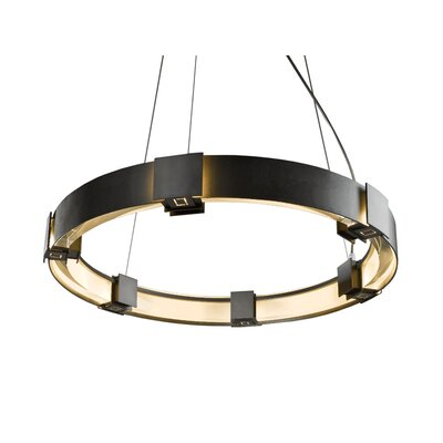 Aura 6-Light Drum Pendant Finish: Translucent Mahogany