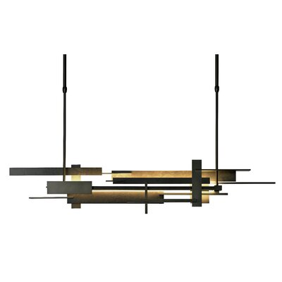 Planar Linear Pendant Size: 38.2 H x 8.5 W, Finish: Black