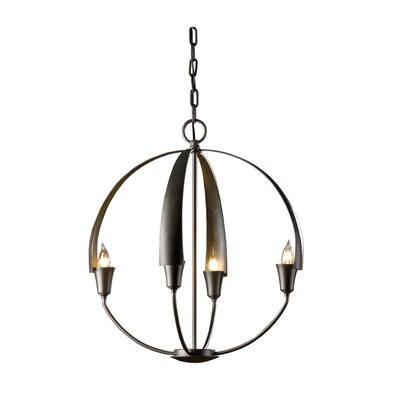 Cirque 4-Light Globe Pendant Finish: Dark Smoke, Size: Small