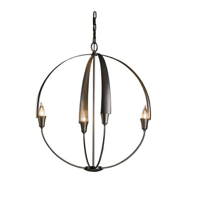 Cirque 4-Light Globe Pendant Finish: Burnished Steel, Size: Small