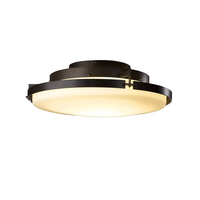 Metra 1-Light LED Semi Flush Mount Finish: Bronze