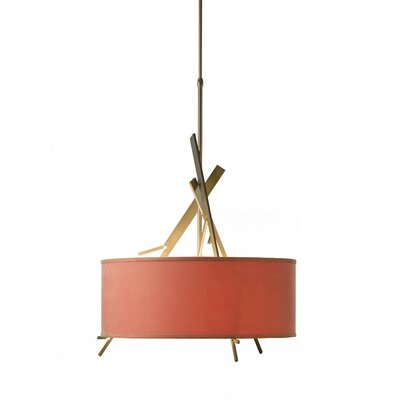 Arbo 3-Light Drum Pendant Shade Color: Terra
