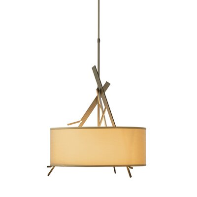 Arbo 3-Light Drum Pendant Shade Color: Doeskin