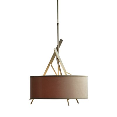 Arbo 3-Light Drum Pendant Shade Color: Eclipse