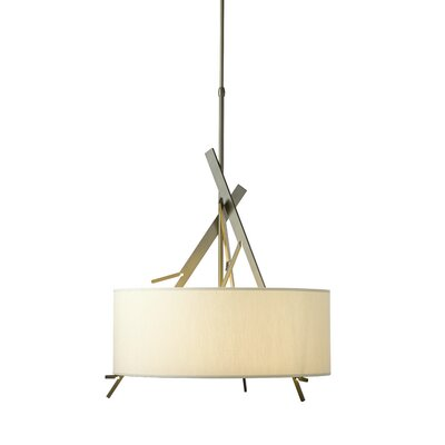Arbo 3 - Light Drum Pendant Shade Color: Flax