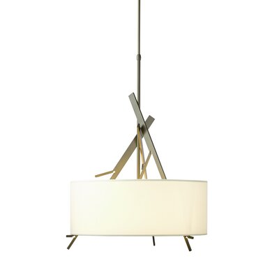 Arbo 3-Light Drum Pendant Shade Color: Natural Anna